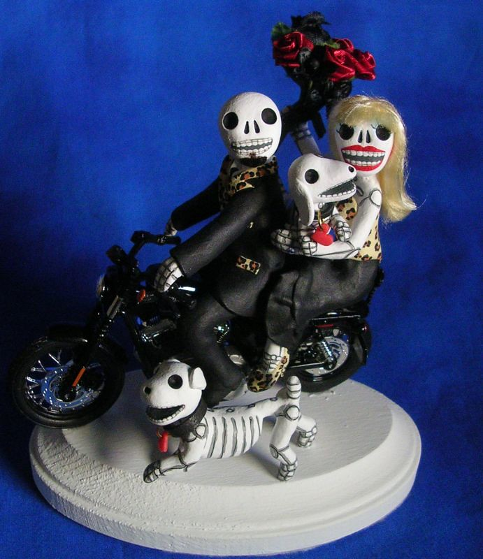 Day of the Dead wedding cake topper | Skeleton bride and gro… | Flickr