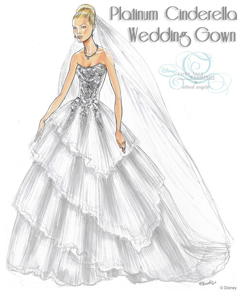 Platinum Cinderella Wedding Gown Sketch | Posted to Platinum… | Flickr
