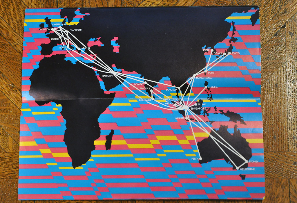 Singapore Airlines Route Map 1976 | A psychedelic route map … | Flickr