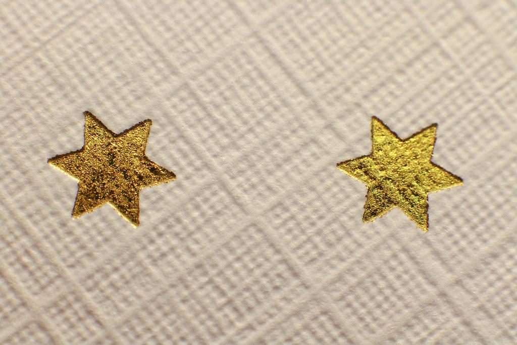 Foil Application Gold Folienprägung Gold Business Card