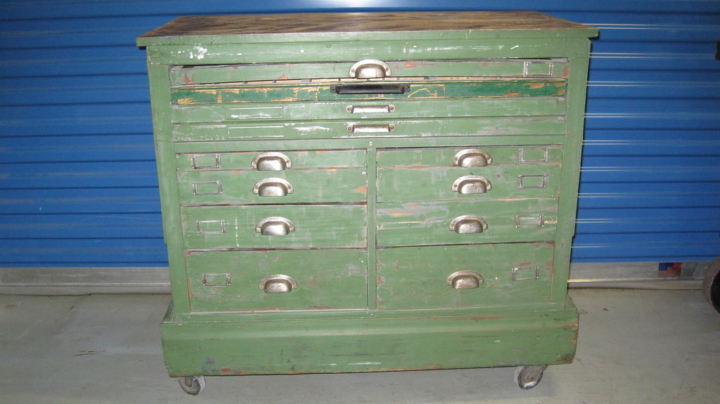 ... Vintage Thin Drawer Cabinet On Wheels | By Sohoforsale