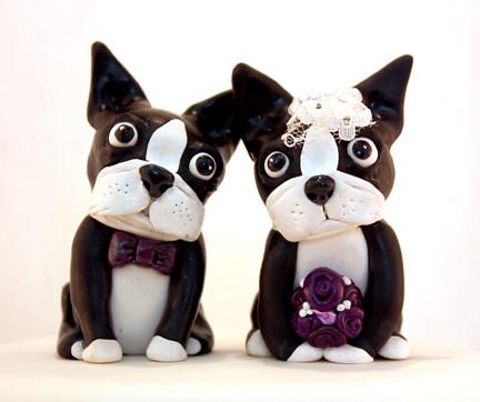 Boston Terrier Wedding Cake Toppers Custom Boston