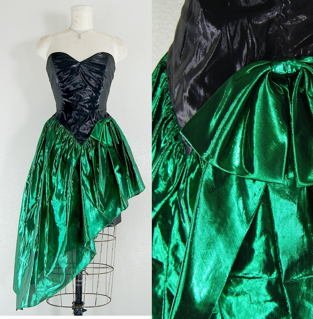 Dublin 1980s vintage party Dress for St Patricks metallic … | Flickr
