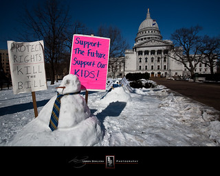 Snowmen Local 126 Joins the Protest | by Loren Zemlicka