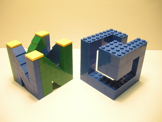 lego N64 and GameCube logos | by lego27bricks