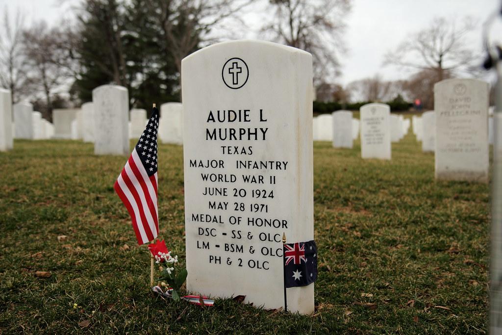 audie murphy gravesite burial site in arlington national c flickr