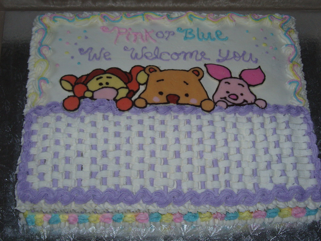 Winnie The Pooh Baby Shower Cake Marble Cake With Chocolat Flickr
