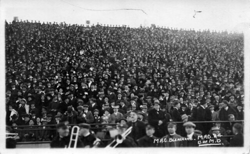 Fans at a M.A.C. vs. University of Michigan football game ...