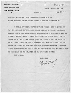 Letter from Ho Chi Minh to President Harry S. Truman, 02/28/1946 | by The U.S. National Archives