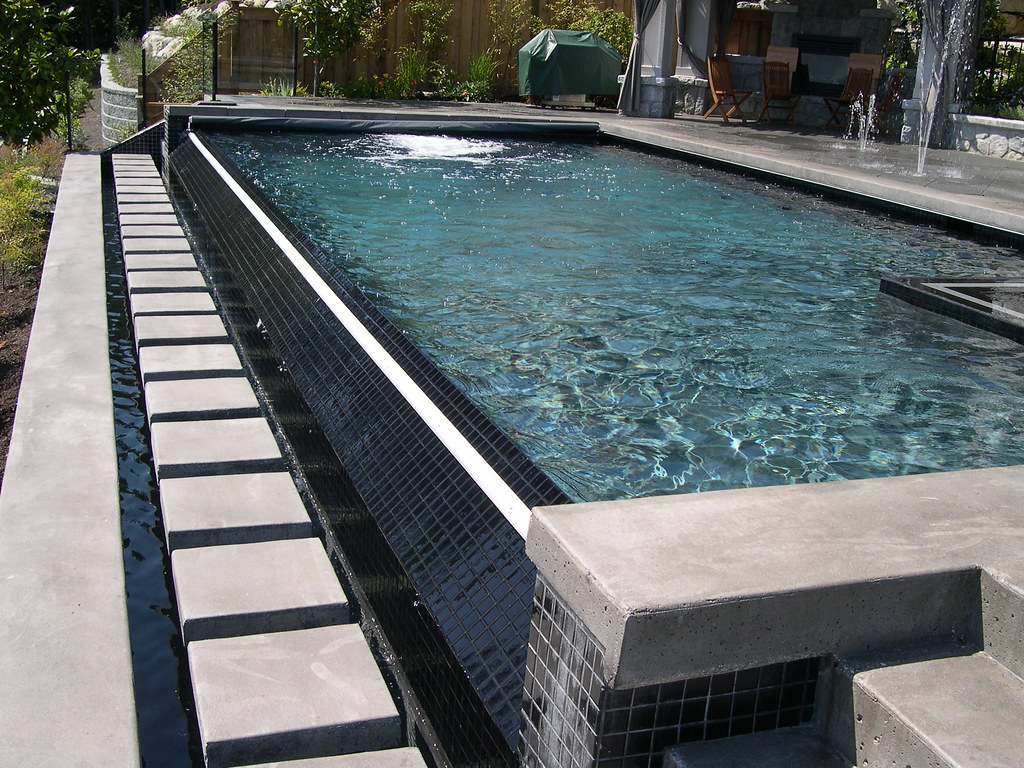 coverstar automatic pool covers. Infinity Edge Pool With Coverstar Automatic And Spa Cover Multiple Deck Jets | By Covers
