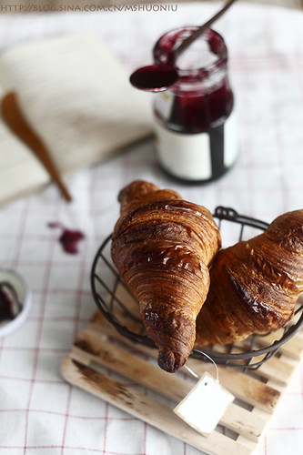breakfast croissant with jam | by Vivian An