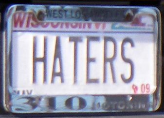 HATERS license plate | by tofightfortheright