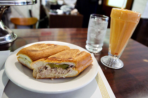 Cuban sandwich and papaya shake | by roboppy