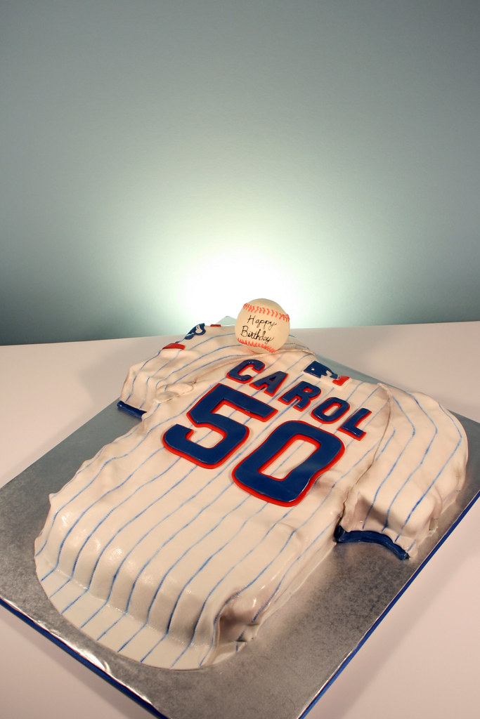 Chicago Cubs Jersey 50th Birthday Cake 50th Birthday For C Flickr