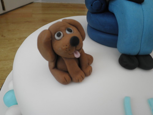 Man In Armchair Cake Topper