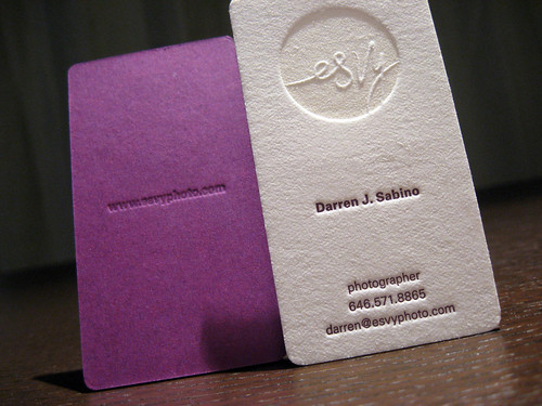 Letterpress Esvy Cards | by dolcepress