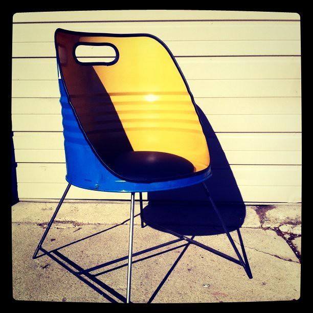 ... 55 Gallon Drum Chair | By Delcruiser