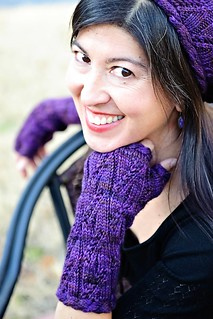 Twisty Violet Mitts Cropped | by TotToppers