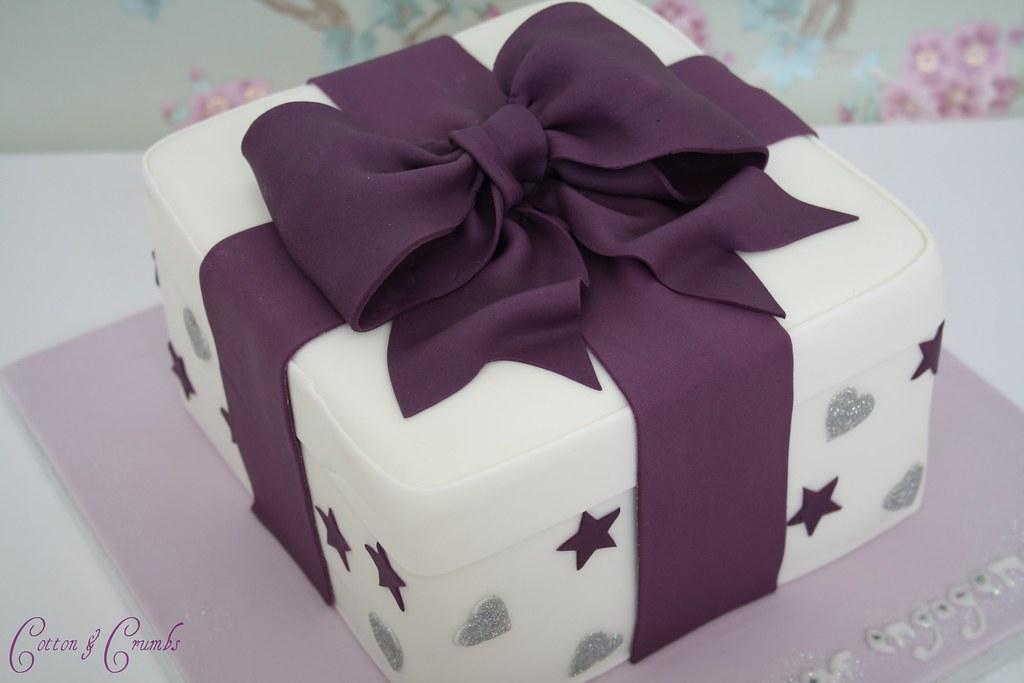 Present Cake Customer Wanted Cadbury Purple Stars And Silv Flickr