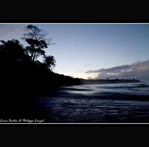 Sunrise on the beach - Corcovado national Park - Costa Rica | by Lucie et Philippe