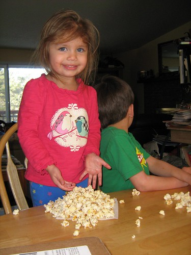 The kids' piles of popccorn | by oddharmonic