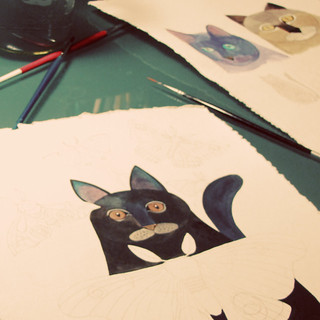 Kitties work in progress | by Geninne
