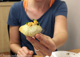 Erin and a Pani Puri | by Boots in the Oven