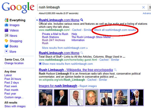 Google Block Domains from Results - Rush Limbaugh | by Si1very
