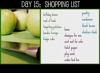 Day 15: Shopping List | by mingaling