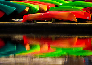 Kayaks On The Charles Celebrating St. Patrick's Day! | by melmark44