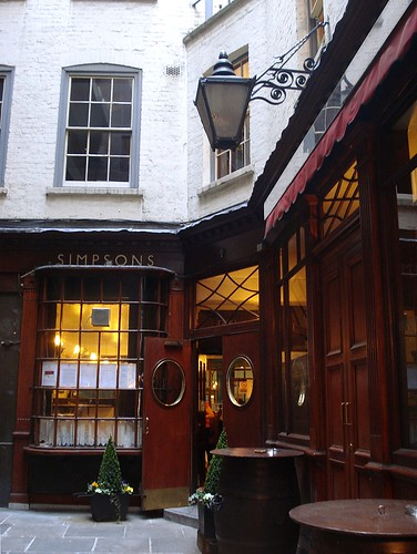 Simpson's Tavern, Cornhill, London EC3