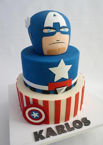 captain america | by Tuff Cookie cakes by Sylvia