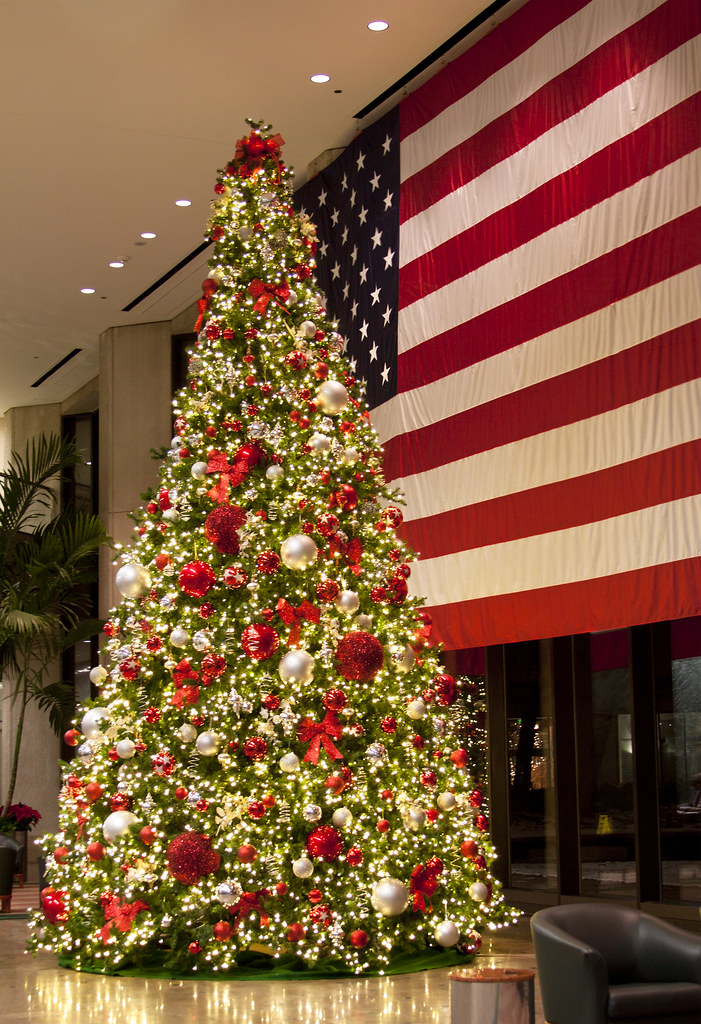 Christmas Tree & American Flag | John Gibel | Flickr