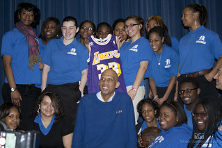 Basketball Legend Kareem Abdul-Jabbar at Bodine High School, February 15, 2011 | by World Affairs Council of Philadelphia