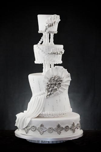 Gray Wedding Cake Stand