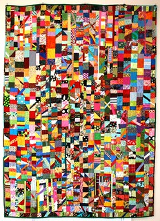 """Confetti"" A true scrap quilt 