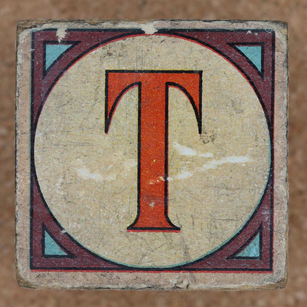 Vintage brick letter T Leo Reynolds