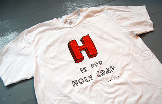 H is for Holy Crap t-shirt | by Marc Johns