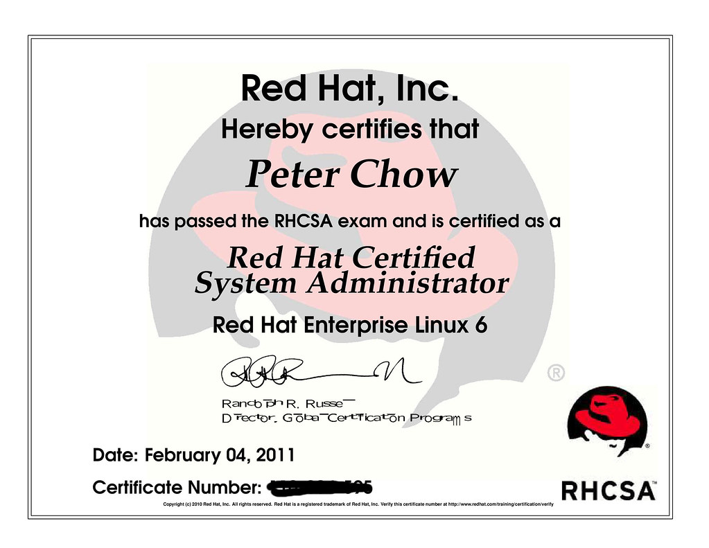 Rhcsa Recently Obtained The Redhat Certified System Admini Flickr