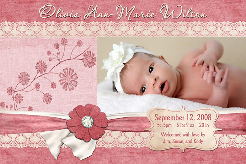 birth announcements baby girl canre klonec co