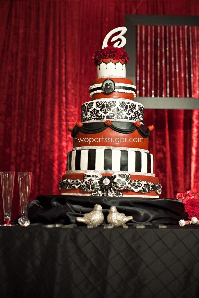 Black White Red Wedding Cake Monica Serratos Flickr