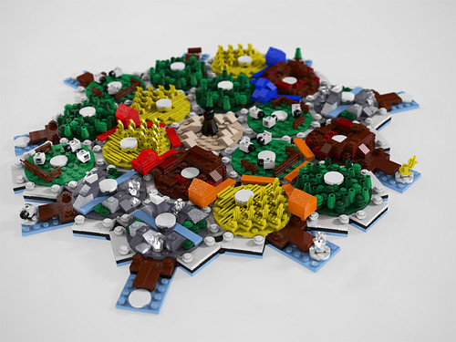 Lego Settlers of Catan Board WIP | by suparMacho