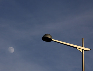 Street Lamp and Moon | by CoolMcFlash