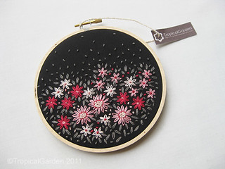 Hand Embroidered Flower Bed Hoop Art - No.2 | by TropicalGarden