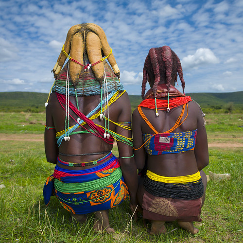 Mwila tribe women backs - Angola | by Eric Lafforgue