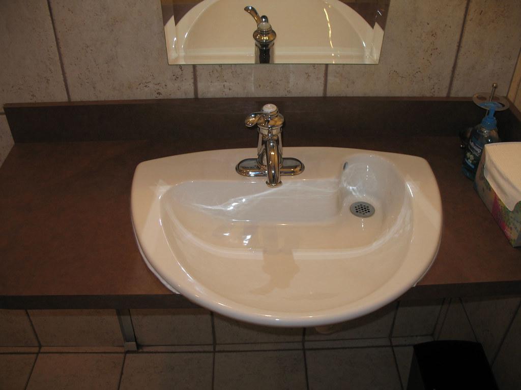Rear Drain Bathroom Sink Handicapped Accessible Bathroom S Flickr - Handicap accessible bathroom sink