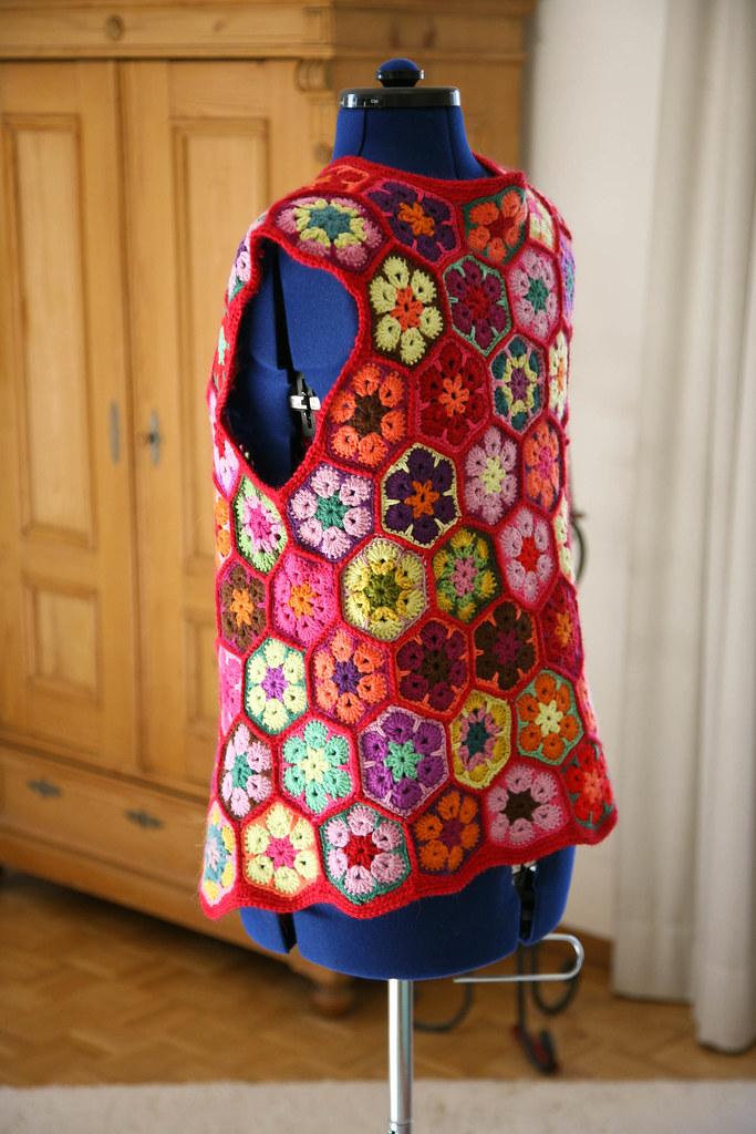 Africanflower Vest I Have Finished My African Flower Vest Flickr