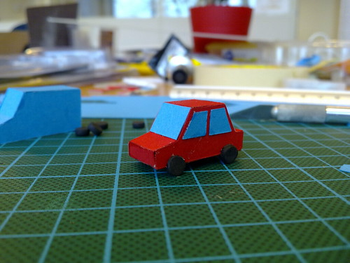 miniature cars 3 the red car is almost done kasper werther flickr. Black Bedroom Furniture Sets. Home Design Ideas
