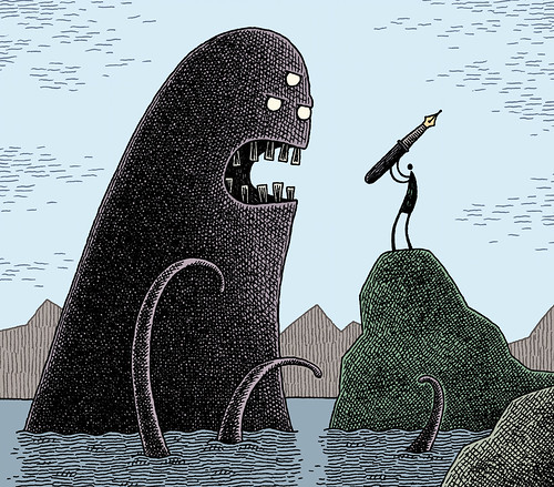PMU-2011-Tom Gauld, Untitled (cover for a book), 2009 | by Eye magazine