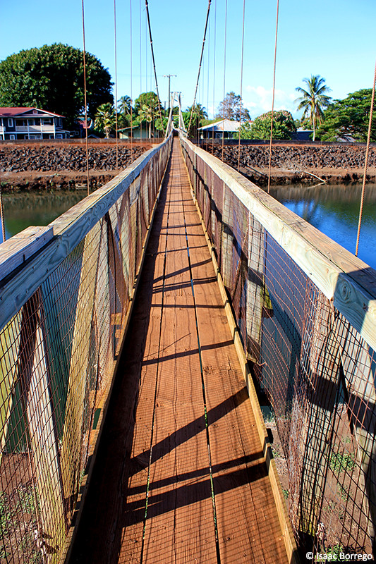 Hanapepe Swinging Bridge Kauai Hawaii C 2010 Isaac Borr